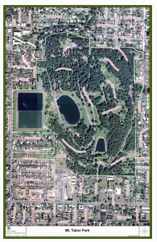 Map of Mt Tabor Park